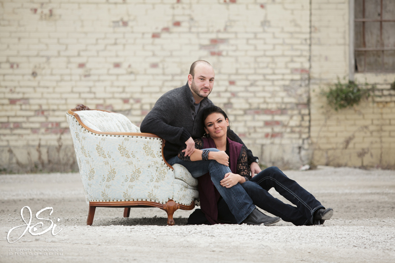 Kansas City West Bottoms Kaufmann Center Engagement Session pictures