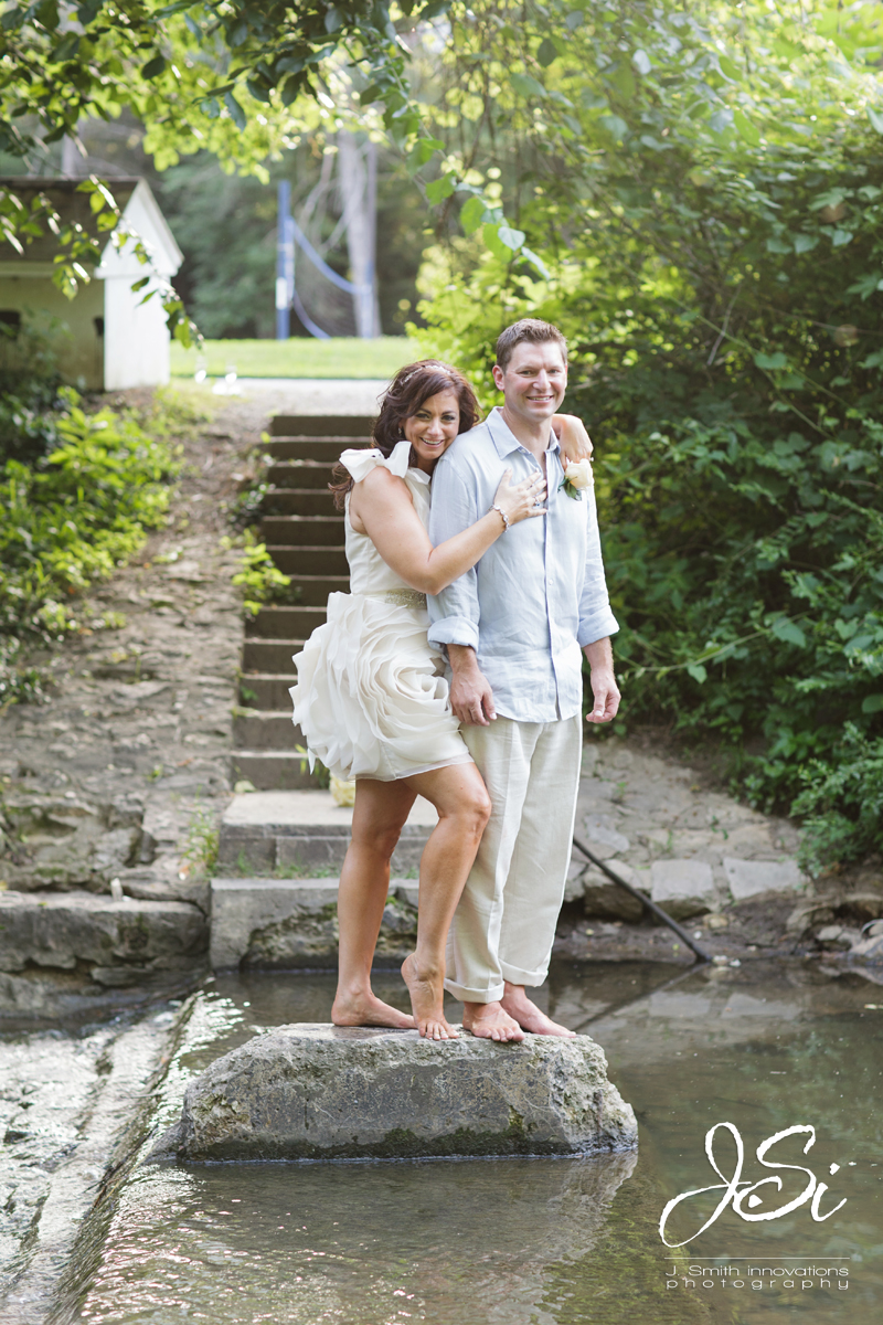 Excelsior Springs The Elms Wedding Elopement intimate pictures creek stream