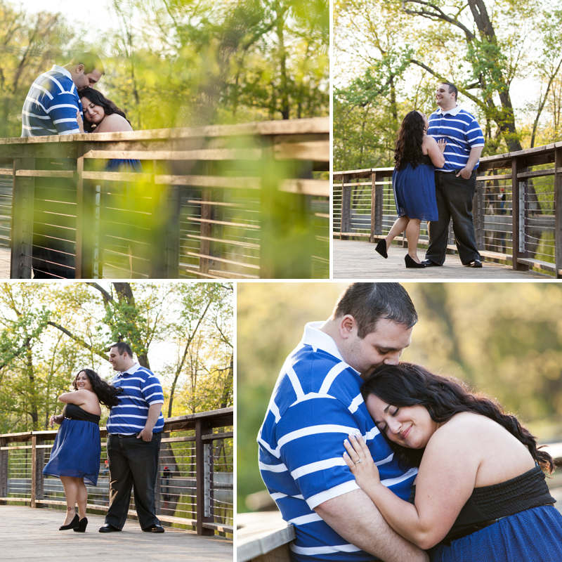 Kansas City park sweet engagement picture