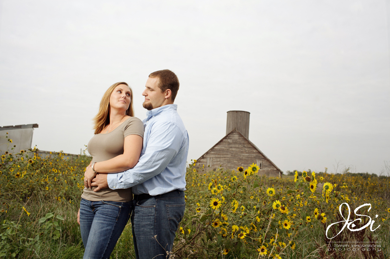 Kansas City Country Sunflower Engagement Session picture