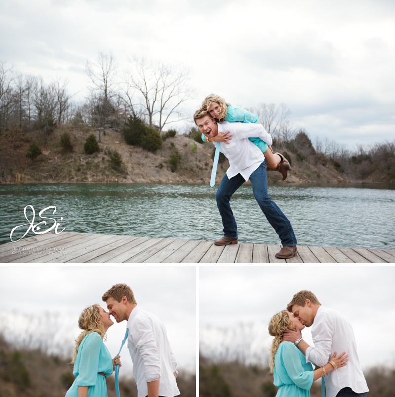 PIttsburg Kansas sweet lake engagement session picture