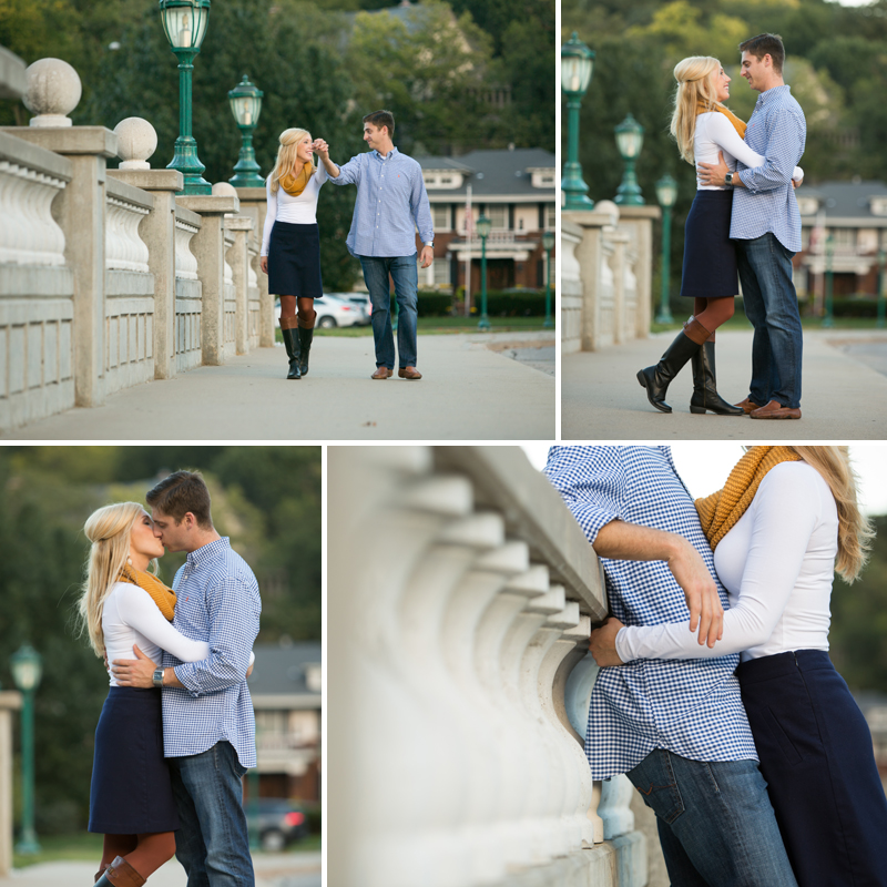 Kansas City Country Club Plaza Engagement Session picture