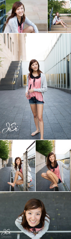 kansas city nelson atkins senior photo session photo