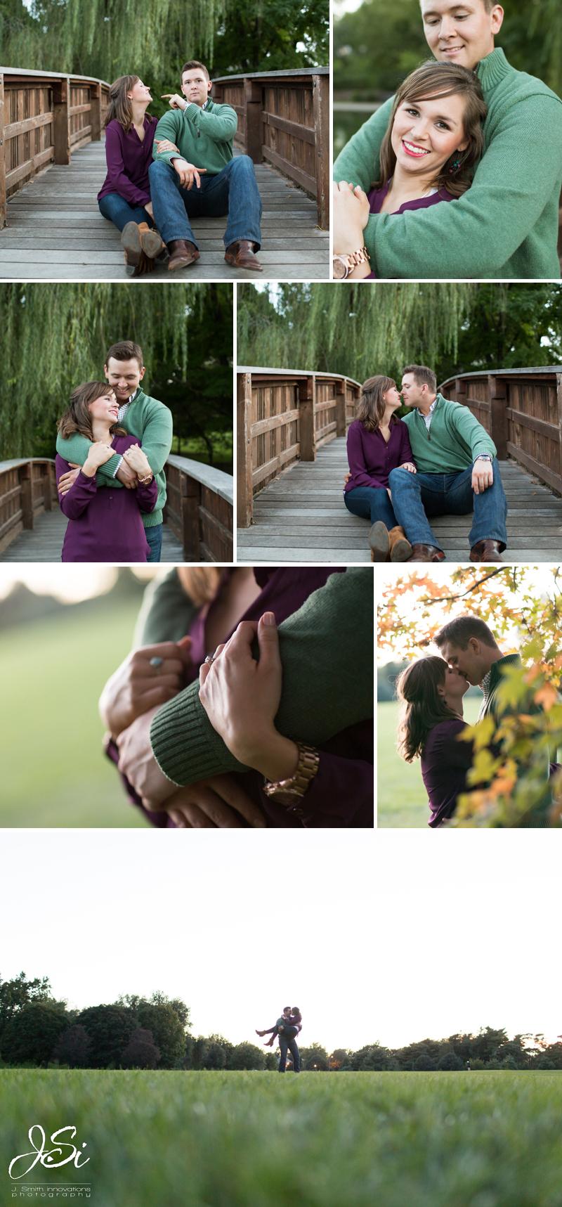 Kansas City sweet Loose Park engagement session photo