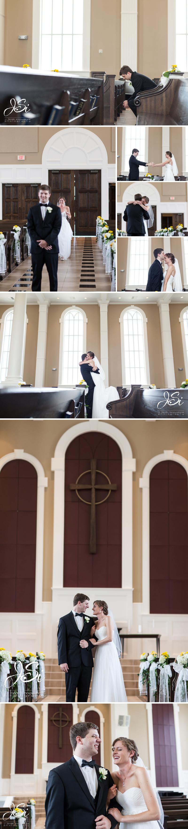 Overland Park Redeemer Presbyterian Church happy Christ centered wedding photo