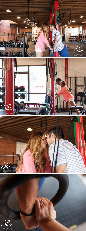KC CrossFit Engagement session photo