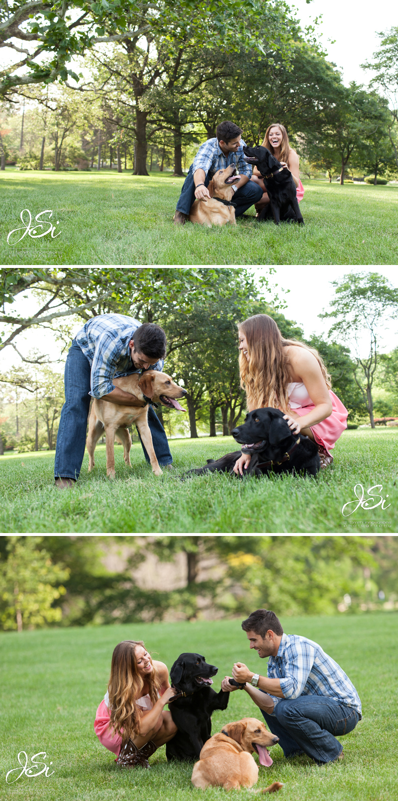 KC Loose Park Engagement session photo