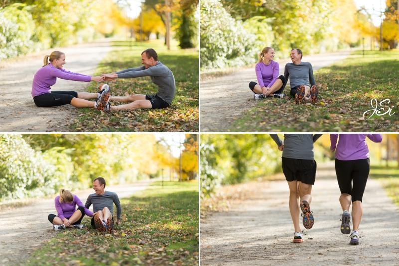 KC Westport engagement session marathon running photo