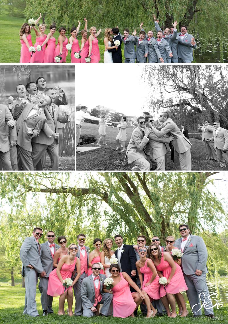 Lawrence Kansas Alvamar Country Clubwedding photoLawrence Kansas Alvamar Golf Course Potter Lake wedding photo