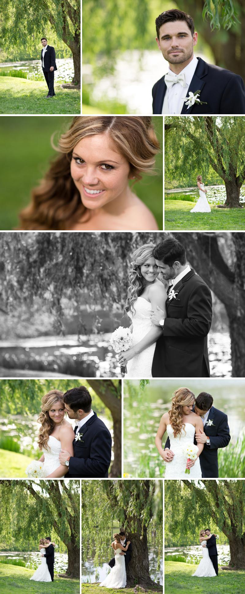 Lawrence Kansas Alvamar Country Club Potter Lake wedding photo