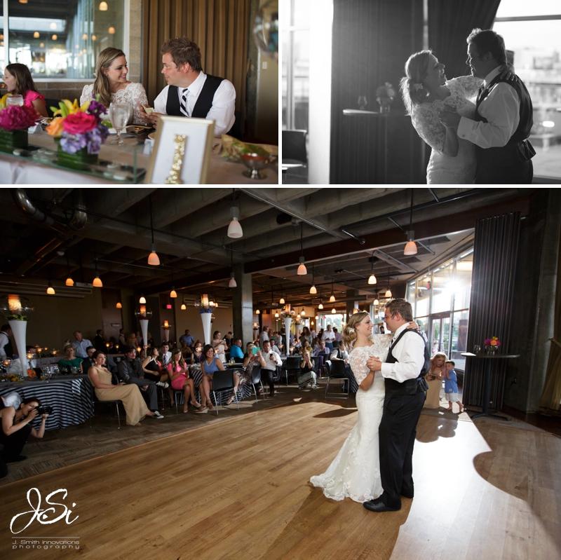 KC Boulevard Brewery wedding reception first dance photo