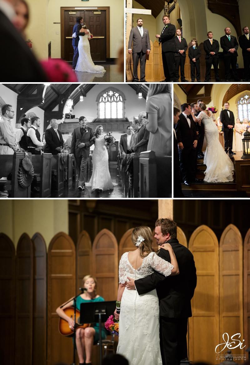 Parkville Park University Chapel wedding photo