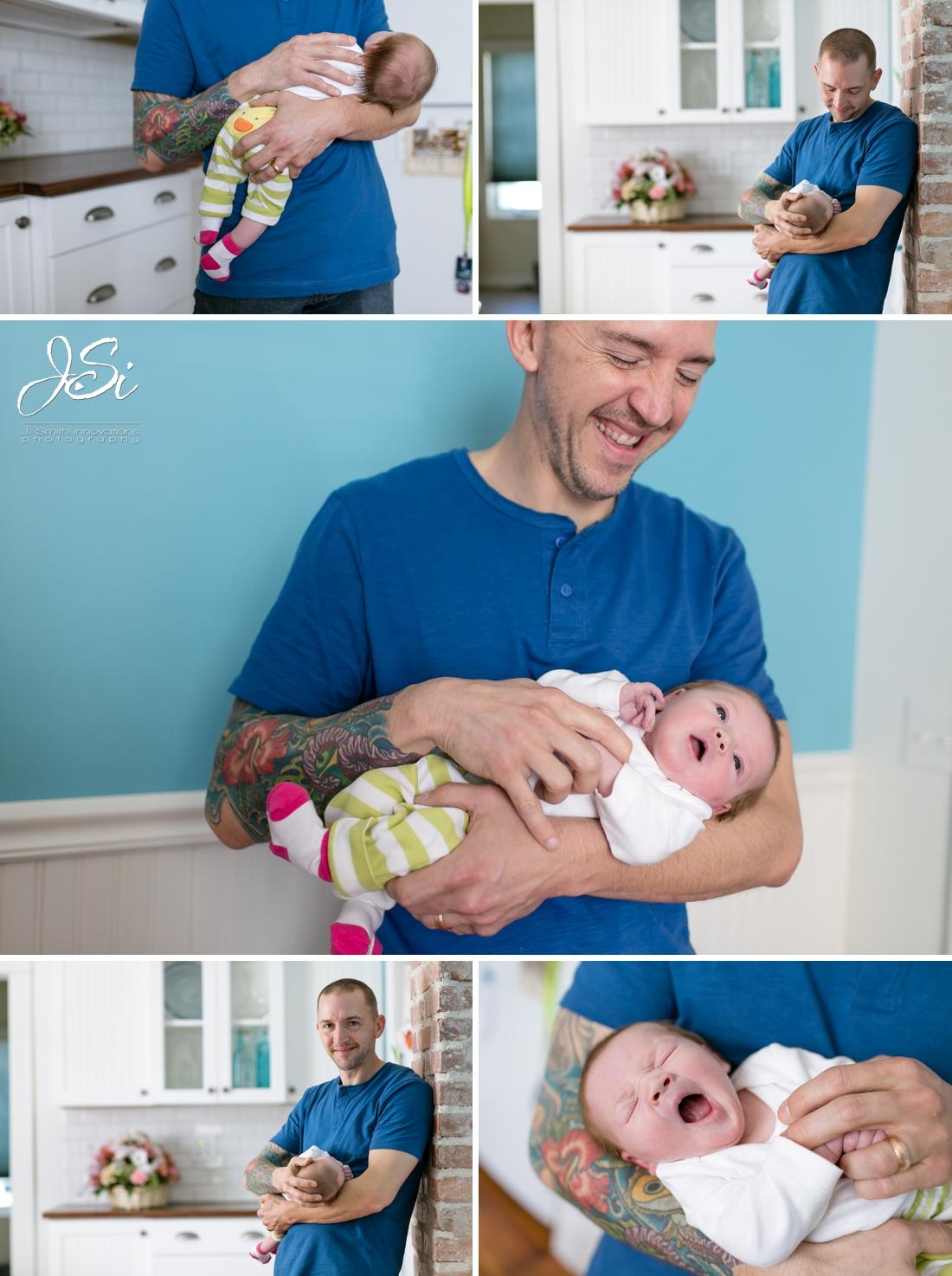 Olathe in-home lifestyle authentic happy newborn session photo