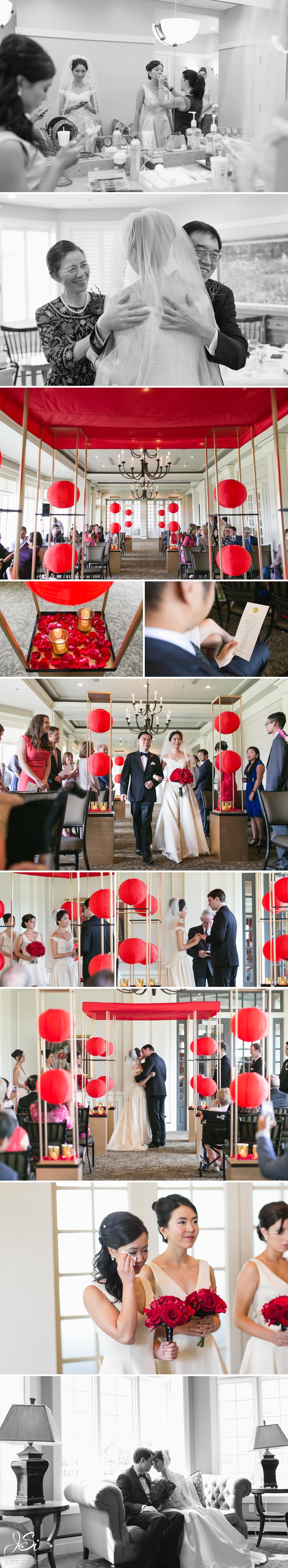 Kansas City Hallbrook Country Club happy romantic wedding photo