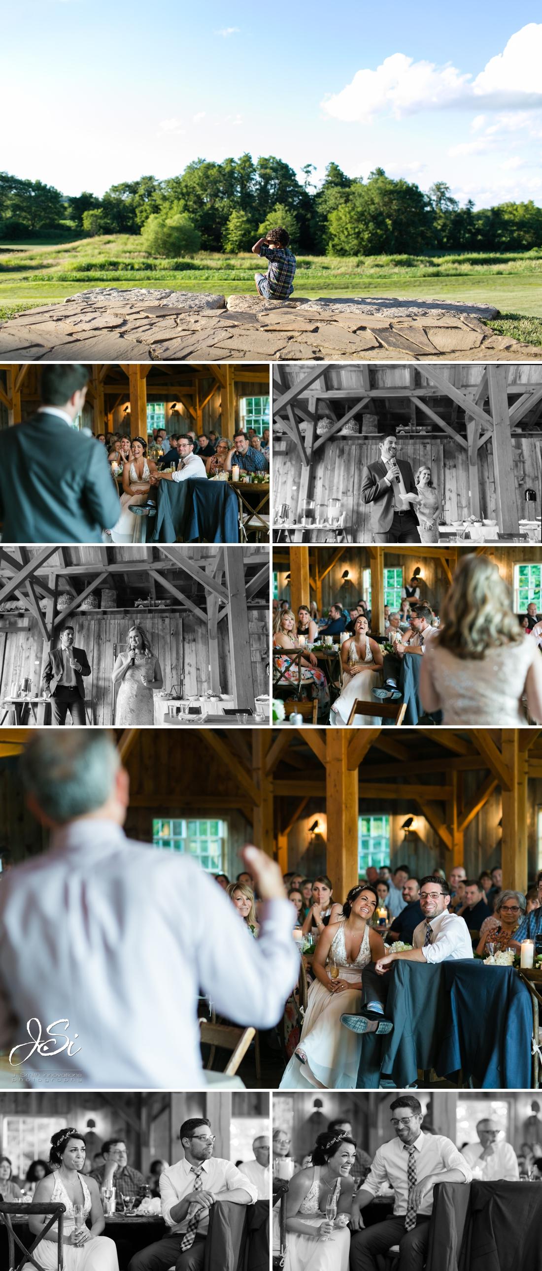 Barn at Schwinn Produce Farm happy candid surprise wedding photo