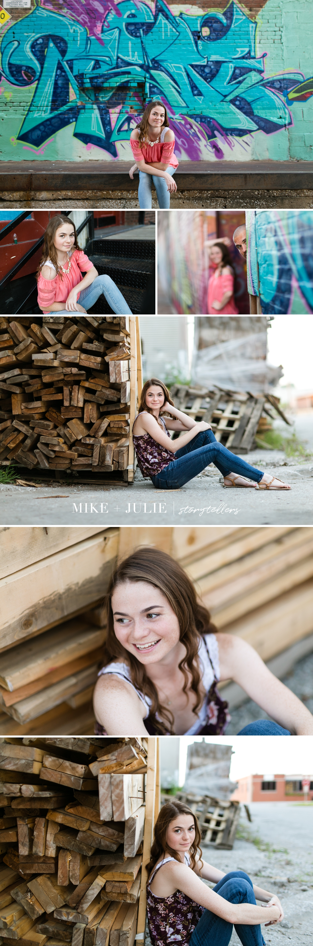 Kansas City West Bottoms happy real personality senior session story picture