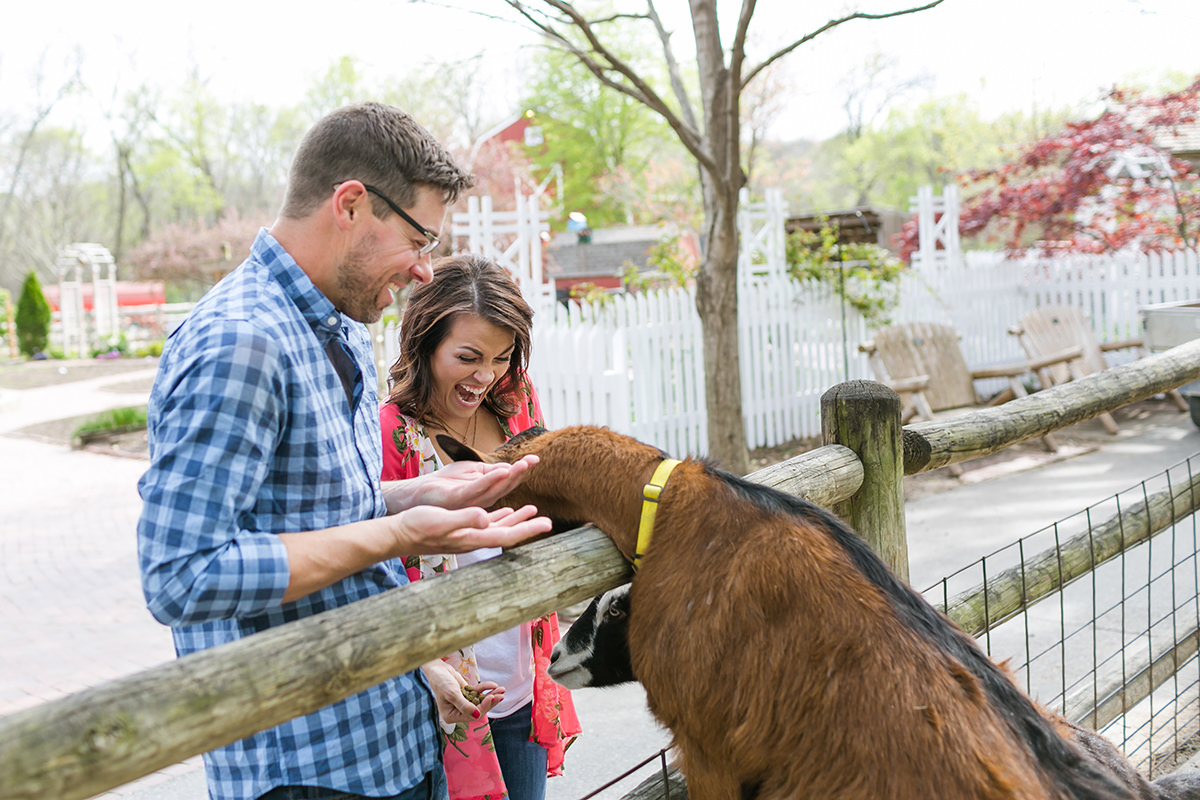 KC documentary storytelling unposed engagement session feeding goat photo gallery