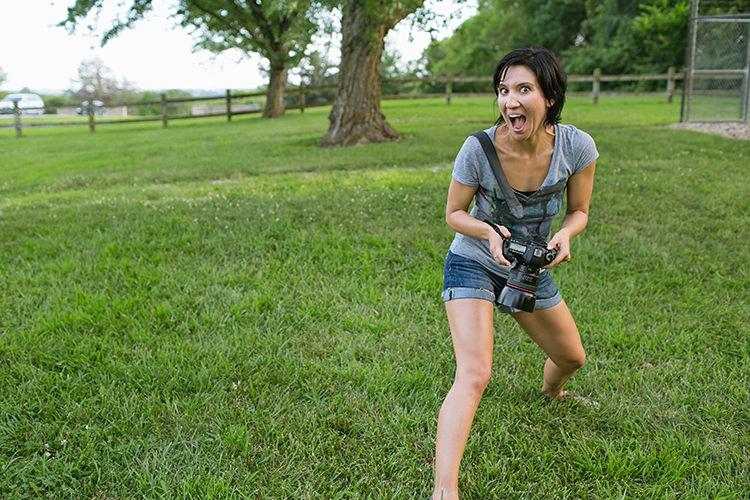 Kansas City photographer laid back goofing around photo