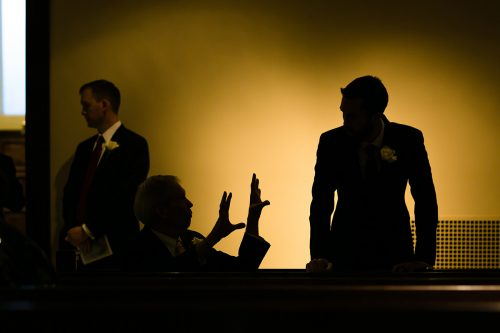cool documentary silhouette wedding photo