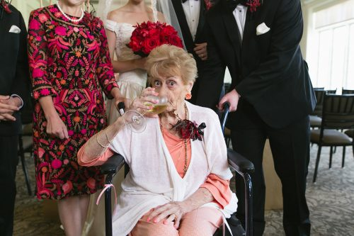 documentary wedding photographers authtic image grandma drinking wine funny photo gallery