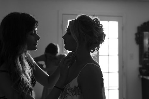 documentary wedding story bride getting ready silhouette