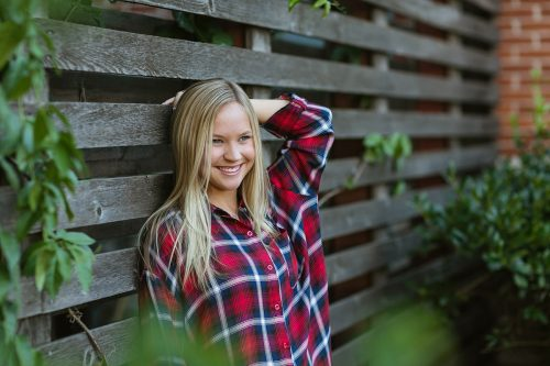 flannel shirt happy senior photo