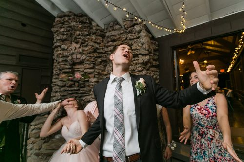 funny real moment wedding reception storytelling photo