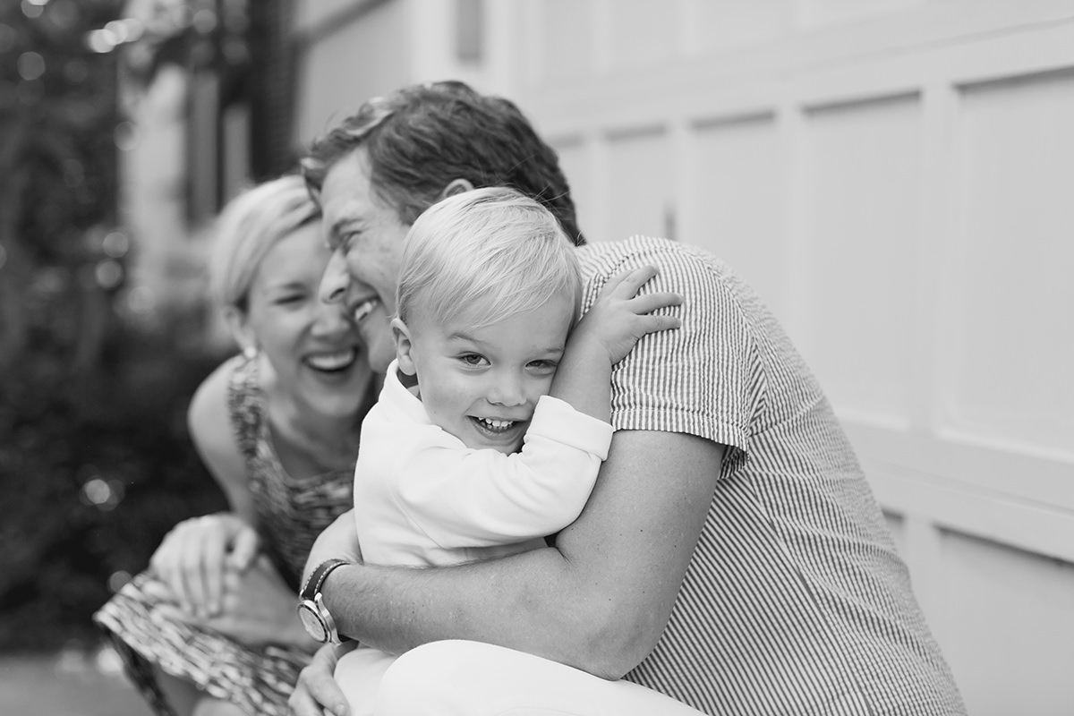 genuine real candid moment of happy family during lifestyle portrait session
