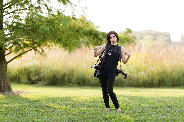 relaxed documentary wedding photographer silly pose