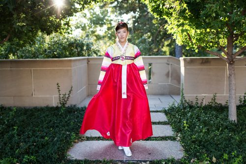 stunning real Korean dress unique senior picture