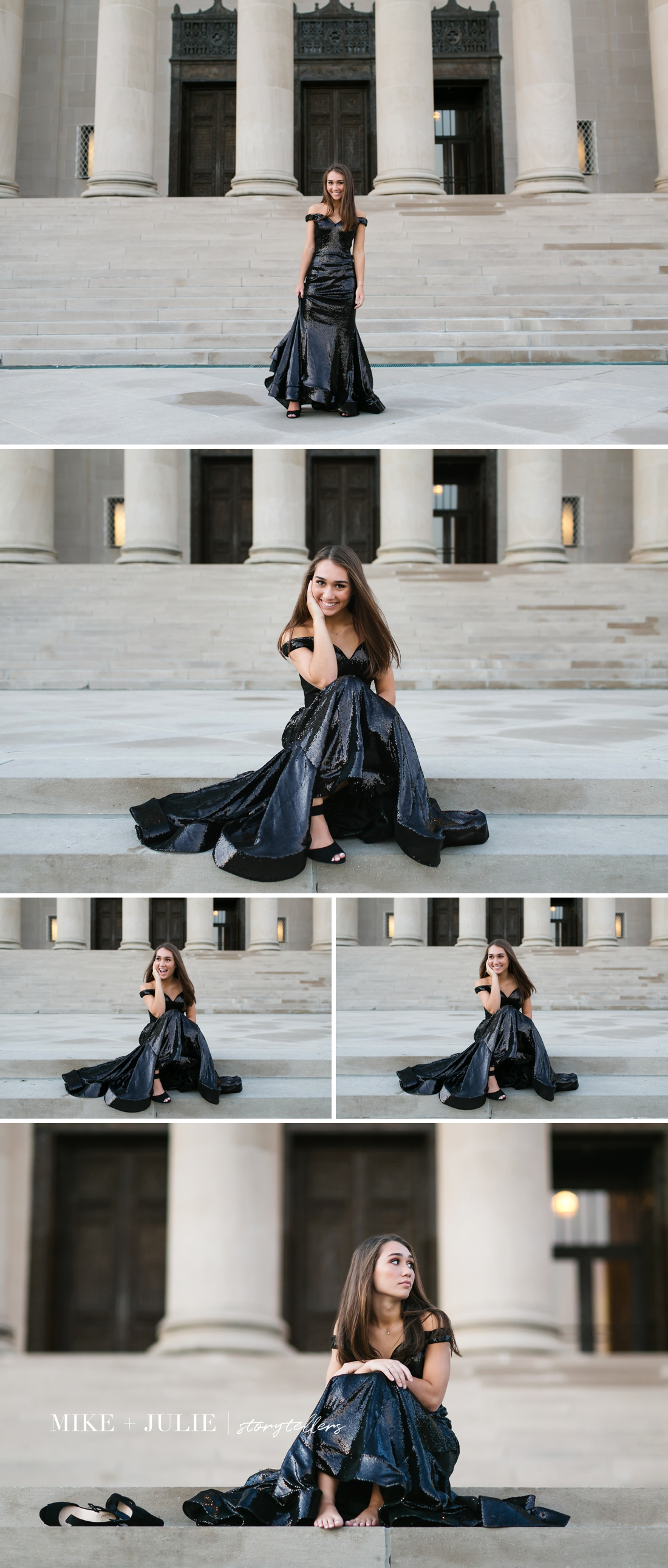 Kansas City fun carefree high school senior pictures session photo