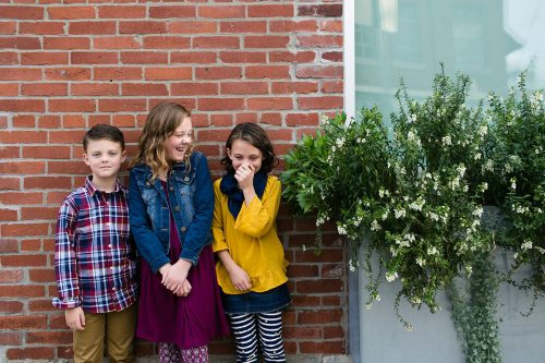 authentic silly fun ornery photo at kid's photo session