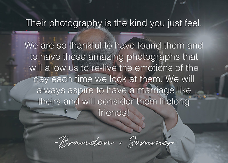 husband wife photographer team authentic emotional hug groom father
