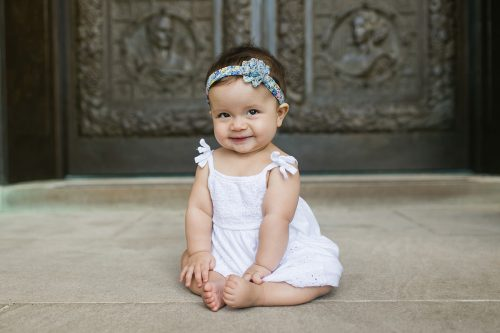 super adorable smiling baby girl children's photography kids photo session