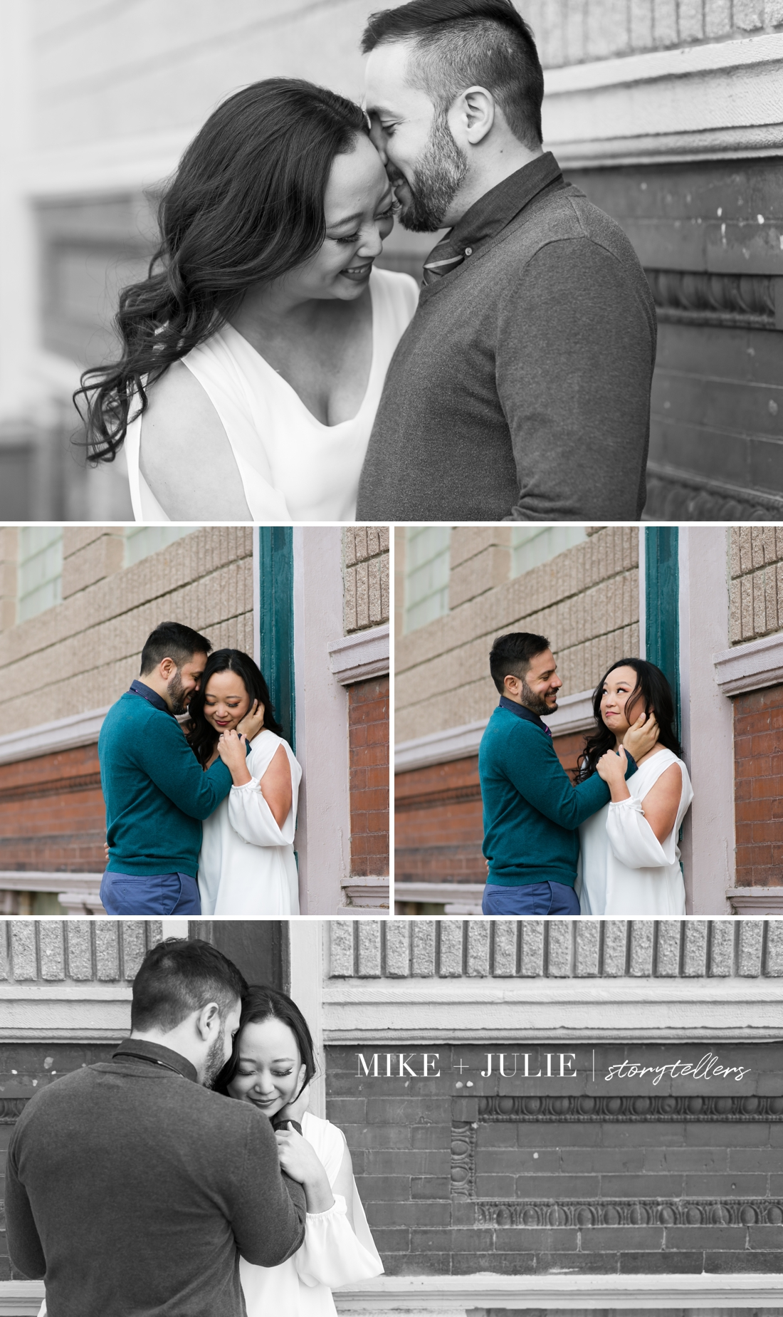 playful paint fight engagement session in West Bottoms KC photo