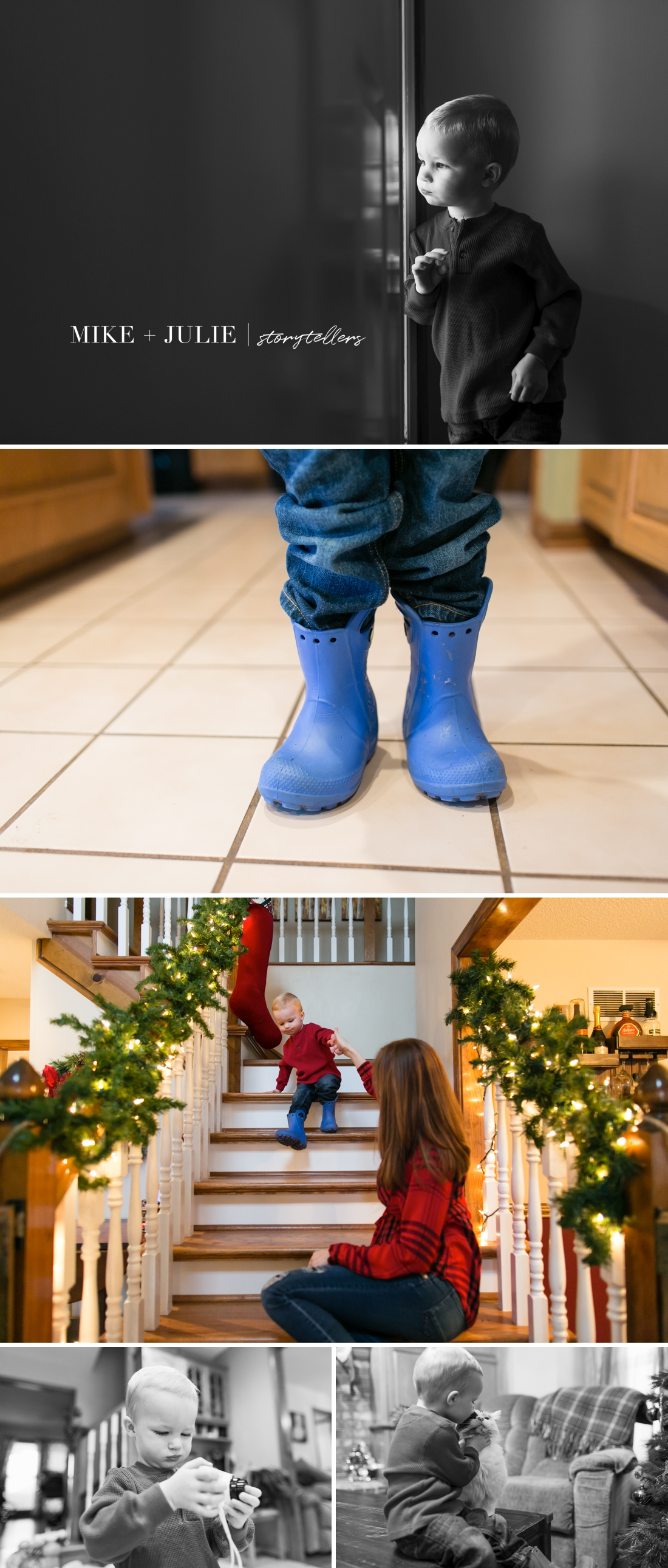 documentary family pictures at home in winter photo