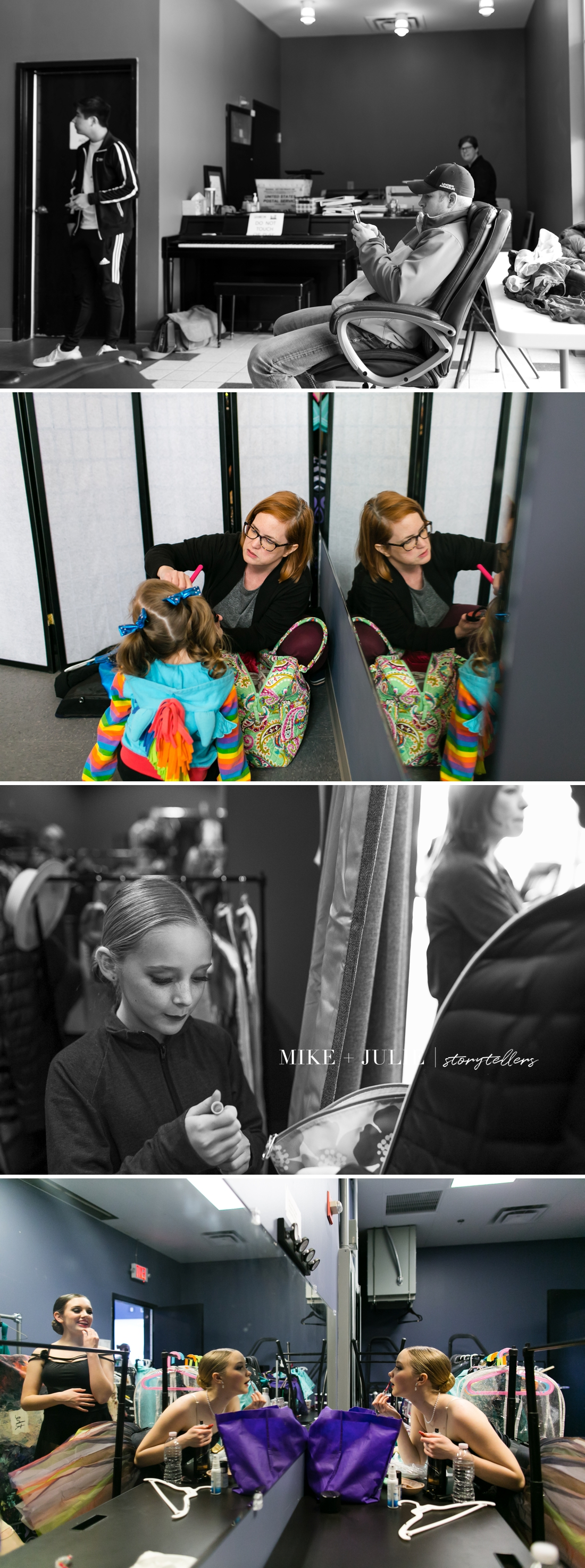 behind the scenes competitive dance studio recital documentary photo