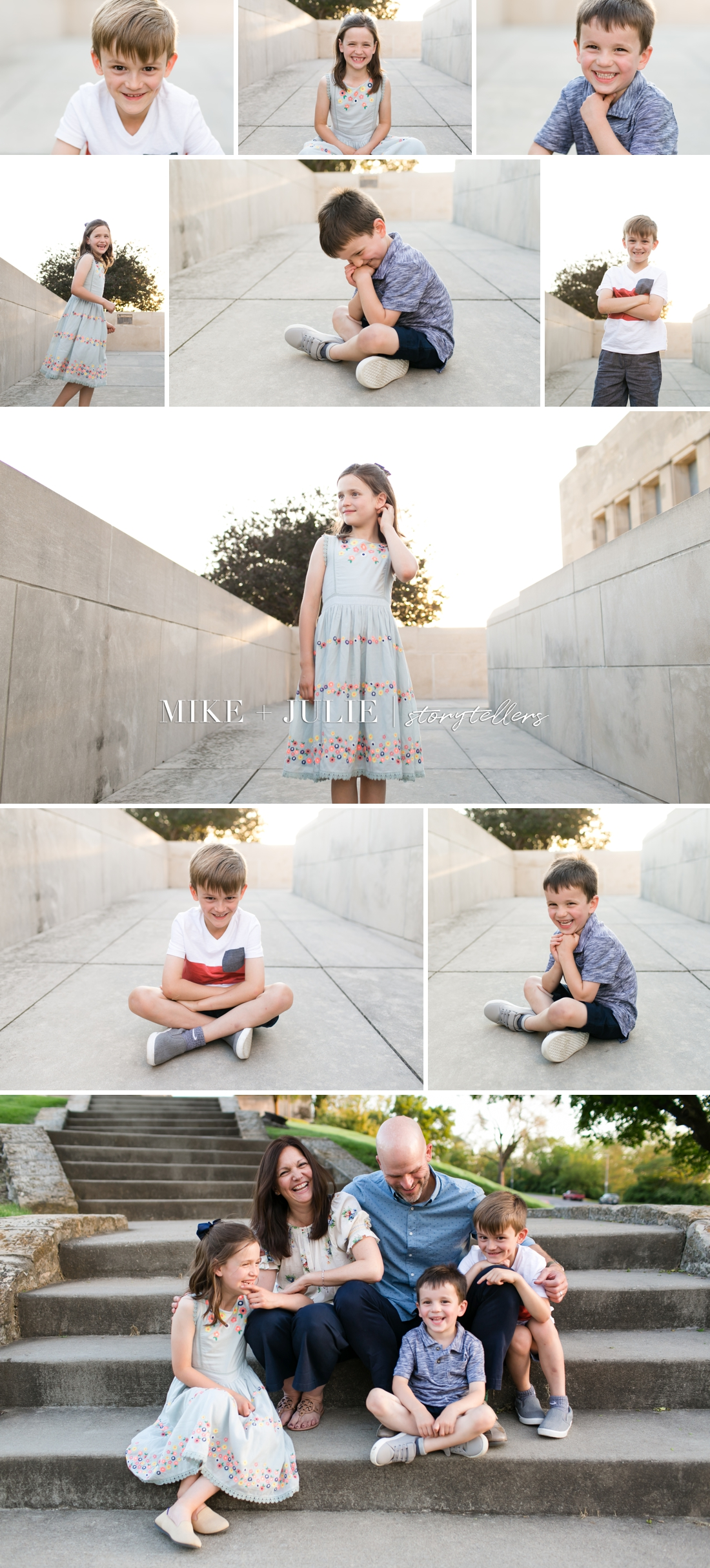 Kansas City happy and playful family photo session picture