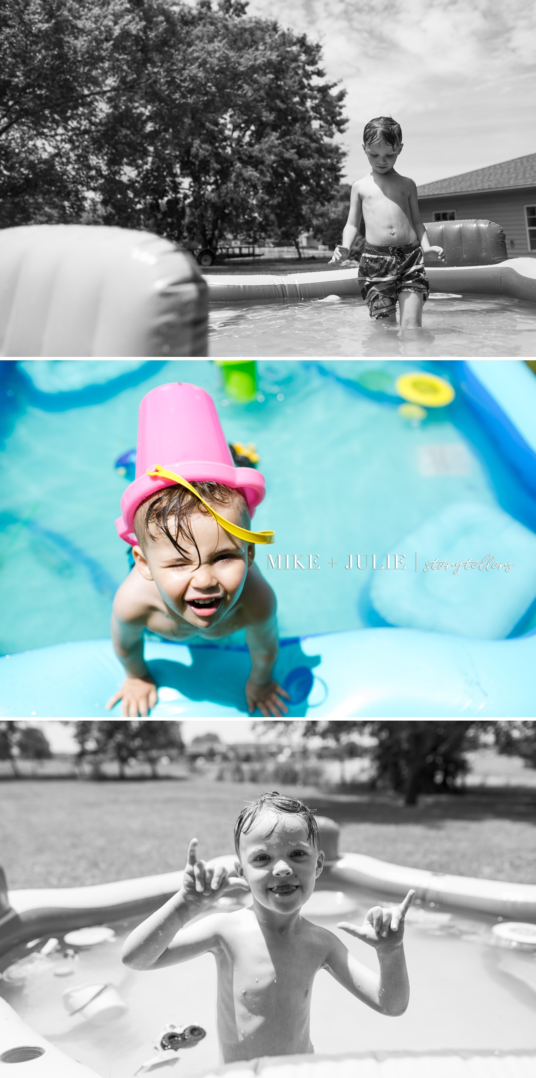 Kansas City UNportrait Experience document fun of childhood at pool picture