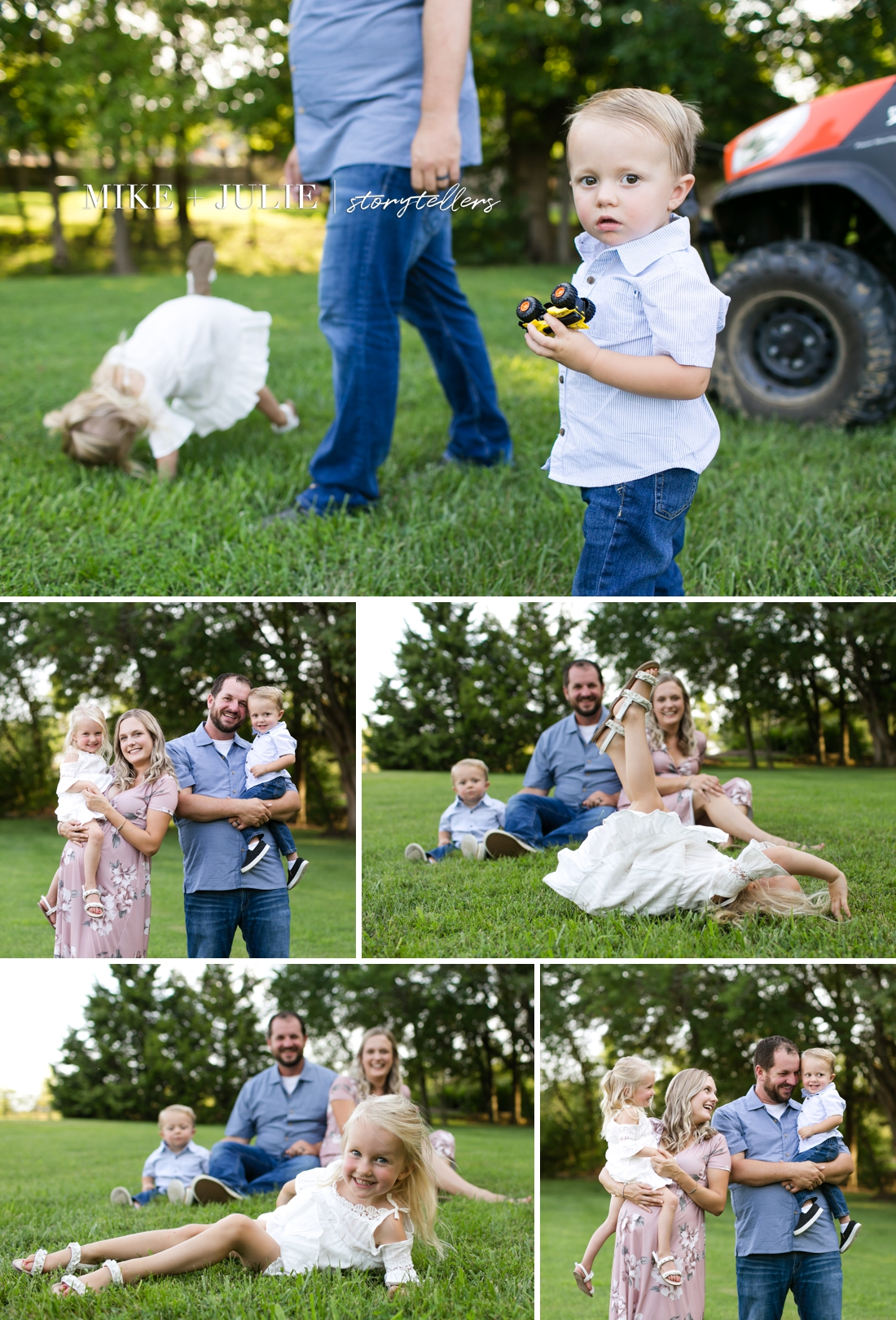 energetic filled with life family photo session picture