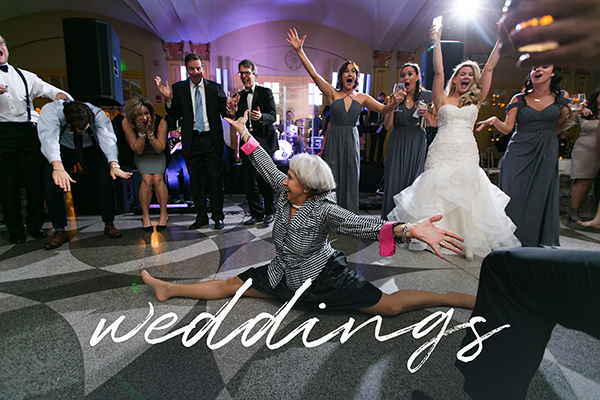 destination photographer epic wedding reception picture of lady doing splits fun moment