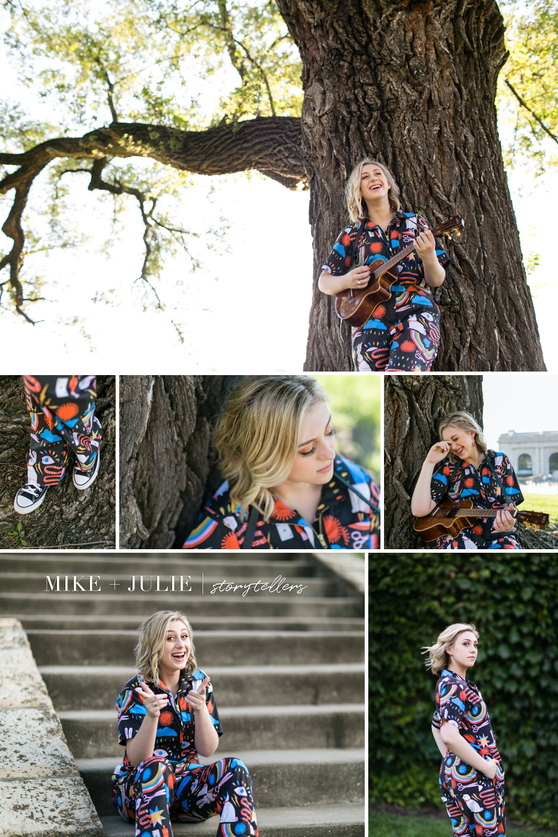 Kansas City senior photographers fun senior pictures Darcie Hingula Songs in the Key of Ukulele