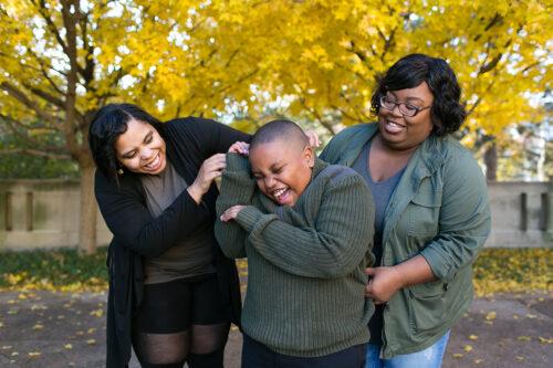 fall family photographer in Kansas City happy session