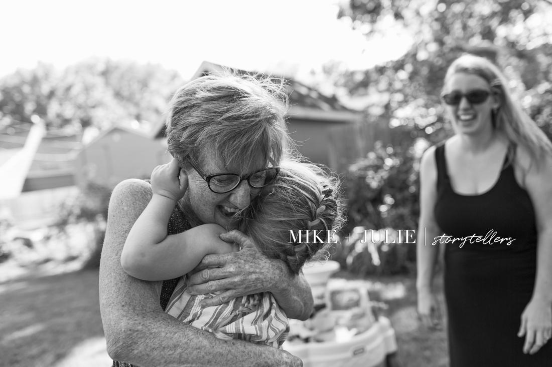 big authentic joy hugging grandma documentary photographers