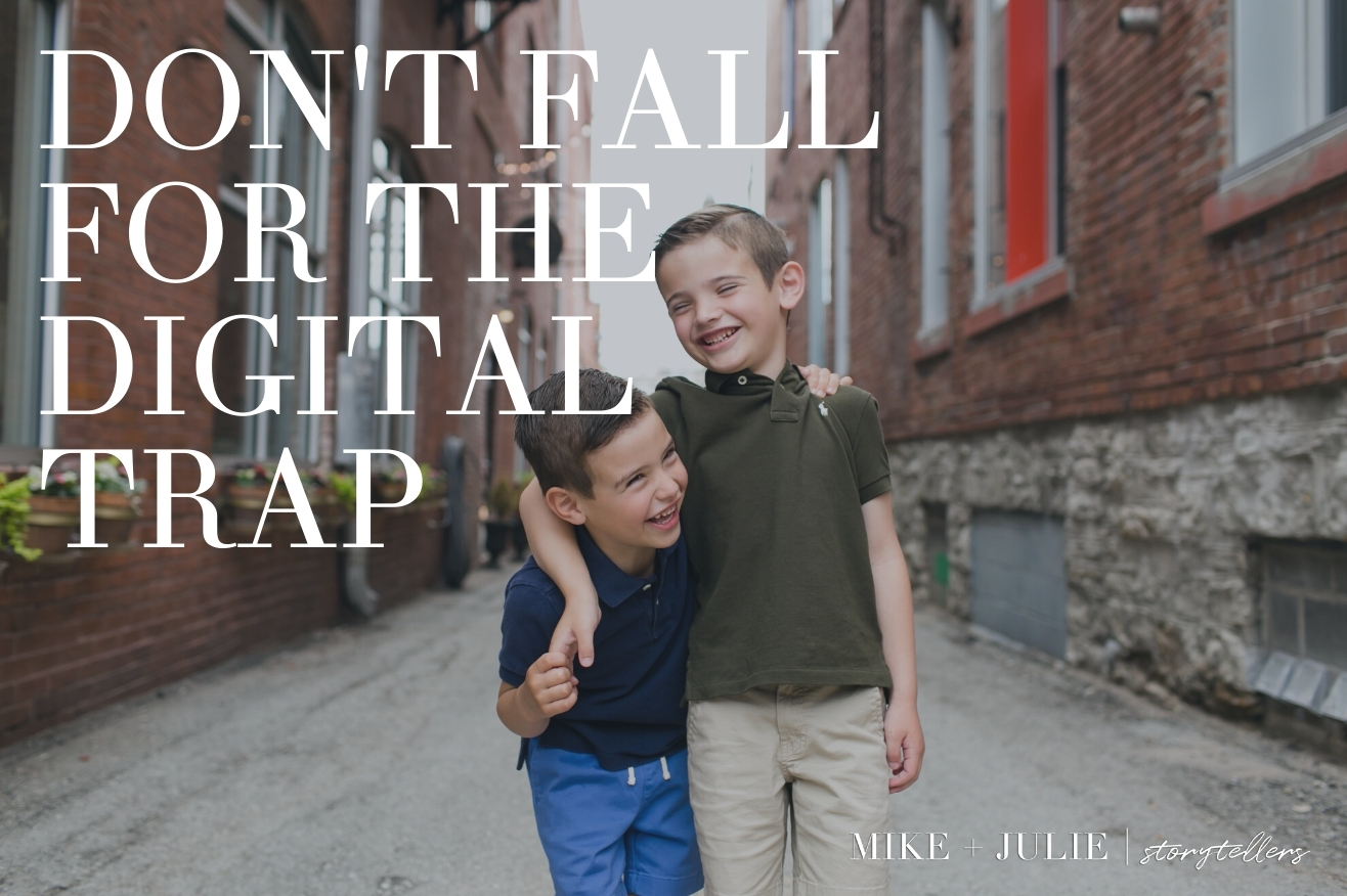 don't fall for the digital trap family photo session canvases albums