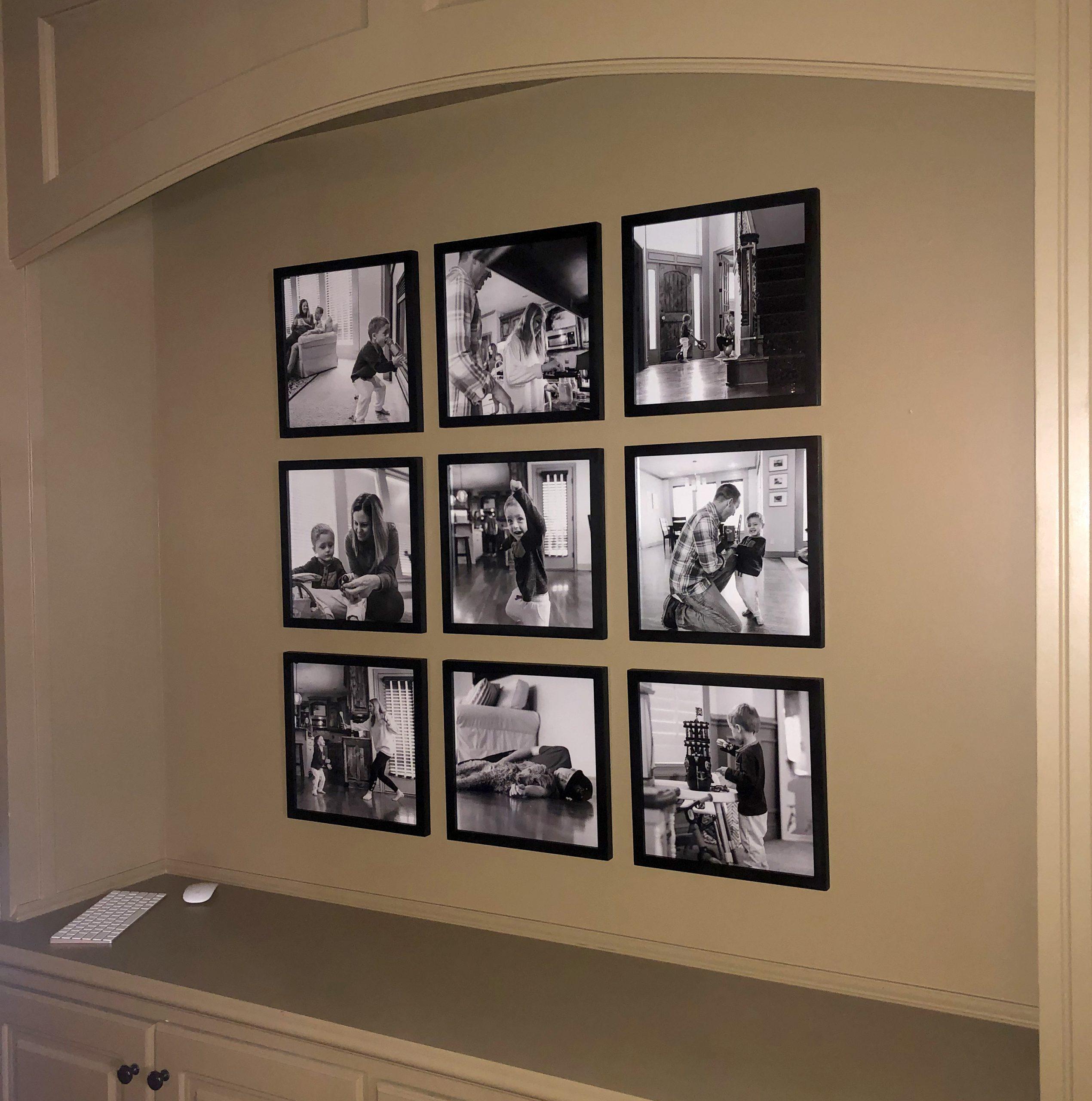real family photo wall
