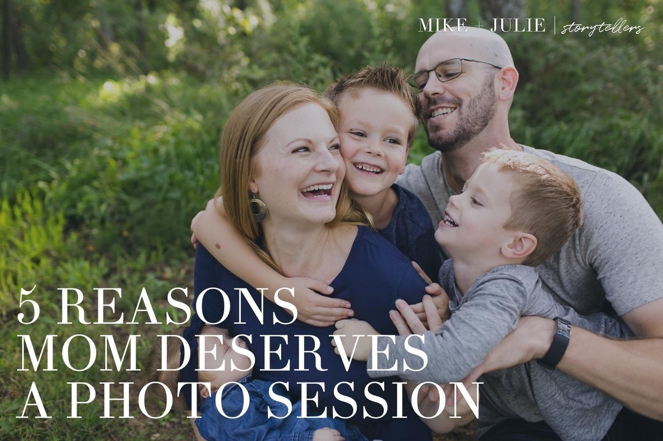 5 reasons mom deserves a photo session kansas city