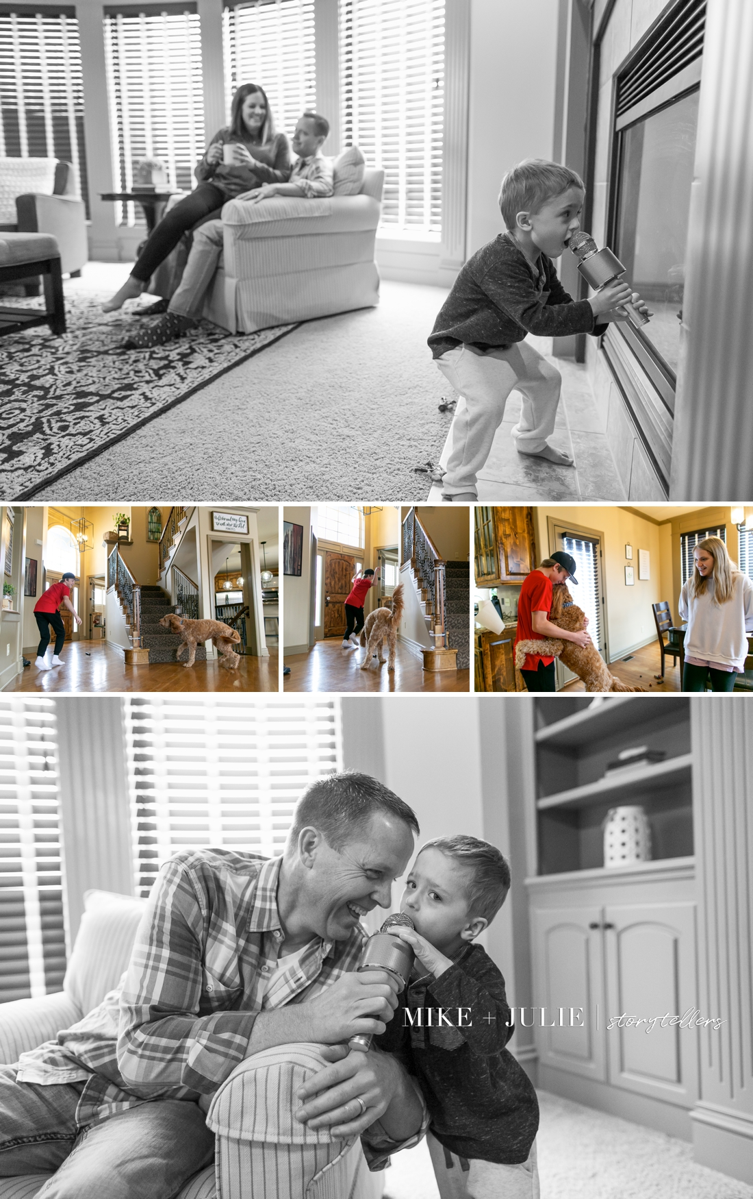 Kansas City family adoption profile book candid photo session