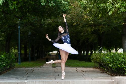 beautiful ballet dancer picture with pancake tutu