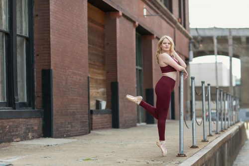 beautiful picture of dancer urban brick